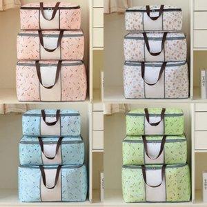 Quilt non tissés sac de rangement vêtements pliables Blanket Quilt Pull Organisateur M / L / XL Porte-Sac Quilt DHE1076