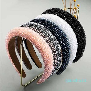 Wholesale-Bling Rhinestone Hair Band Crystal Diamond Headband For Women Fashion Handmade Glam Studded Headbands Hair Hoop X463FZ