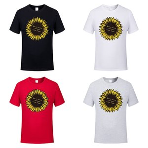 Funny Summer Baby Girls Sunflower Printing Tshirt Kids Clothes Cotton Tops New Design Cartoon Short Sleeves Tees