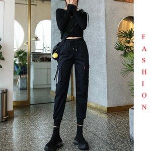 EACHIN Мода Женщины шаровары вскользь Свободные штанах Женщины высокой талией голеностопного Длина Joggers Зима Streetwear Спорт брюк