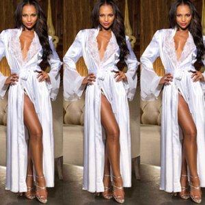 3oA8G Hot venda Long Underwear saia longa lingerie sexy roupão oleosa roupão pano saia grande sexy terno tamanho