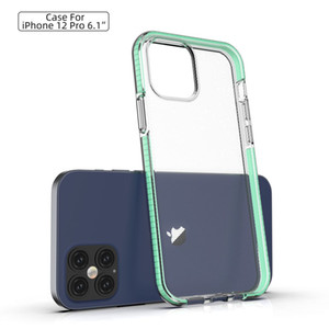Para iPhone 12 11 Pro Celular Max Xs XR X SE Caso Limpar macio TPU à prova de choque Capa para Galaxy Note 20 A01
