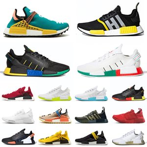 adidas 2019 pharrell williams nmd r1 v2 human race Top Qualité Hommes Race Humaine Chaussures De Course En Plein Air NMD R1 V2 Rio De Janeiro Mexico Femmes Baskets Baskets 36-47