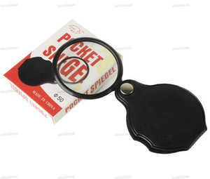 Portable Mini Black 50mm 5X Hand-Hold Reading Magnifying Magnifier Lens Glass Foldable Jewelry Loop Jewelry Loupes with retail package box