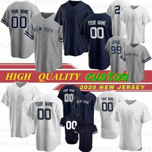 2 Derek Jeter 27 Giancarlo Stanton personalizzato 2020 Baseball maglie 99 Aaron giudice di New York del pullover 24 Gary Sanchez ricamo basso freddo