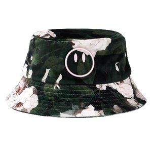 hot 20SS Men Women Rose Full Print Fishermans Hat Sun Hat Cap Outdoor Travel Street Bucket Hat Fishing Cap Casual Fashion Sunhat