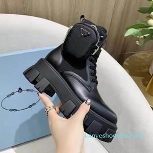 Los nuevos hombres y de las mujeres de la plataforma del cuero auténtico últimos zapatos casuales Bolsa Botas Top pulso botas Triple Martin Tamaño 35-45 k01