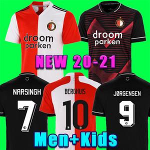 ТОП 20 21 Фейеноорд футбол Джерси KOKCU футбол рубашка Berghuis Camiseta Йоргенсен 2020 2021 Сенези трико ножные Мужчины + Детская комплект униформы