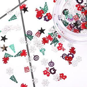 Новый рисунок 5 Стили Winter Christmas Snowflake ногтей блестки золота Металл Блеск Типсы Маникюр снег цветок украшения аксессуары