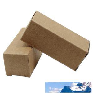 50Pcs Brown Kraft Paper Box Emballage Carton Essential bouteille d'huile boîte d'emballage Party Lipstick Cadeaux Artisanat Pliable Paperboard Paquet Boîte
