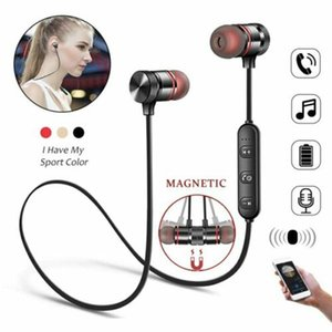 M5 Bluetooth para auriculares Deportes banda para el cuello magnético auricular estéreo inalámbrico Auriculares de la música metal auriculares con micrófono para Móviles Moblie