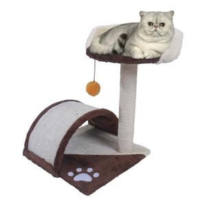 """19"""" Sisal Arbre de chanvre Chat stable Titulaire mignon Climb Cat Playground Pet Toy Cat Tour"""