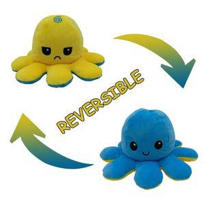 Carino polipo capovolto bambola espressione biadesivo Flipped polpo peluche giocattolo del regalo giocattolo del bambino della peluche 10cm 23 colori per bambini