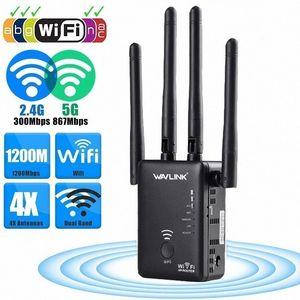 LEORY AC1200 double pour Band 1200Mbps 4x3dBi antenne externe sans fil WIFI 3uWH #