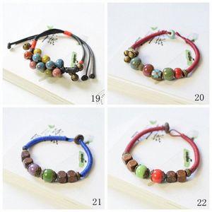 Designer Perles Céramique Bracelet à breloques Creative Handworkzstyle couple coréen Bracelet ornement Bijoux Charm Bracelet Homme 02 pqEL #