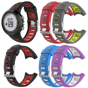 Men's Universal Dual Color Silicone Watch Band Watch Strap Wristband For SUUNTO Quest M1 M2 M4 M5 M Series Smart Watch