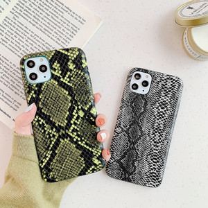 10pcs Snake Skin Pattern Hard CellPhone Case For iPhone 11 Pro Max XS XR X 8 7 6s Plus Cases Back Protection Cover Covers dropshipping