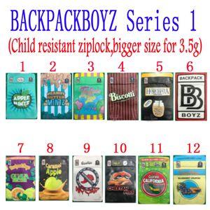 Backpackboyz 3 5g Mylar Bags 3.5G Resealable Cheiro Prova sacos Baggies Backpack Boyz Biscotti Gelato 41 Guarana Billy Kimber Zerbert Gelatti