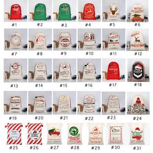 31 STYLES Christmas Gift Bags 2020 new Christmas Bag Drawstring Bag With Reindeers Santa Claus Sack Bags For Santa Sack kid Bag EEA1868