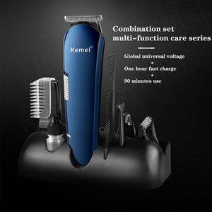 Kemei homens Hair Clipper professionnelletrimmer profissional tondeuse cheveux para mencordless maquina de ACABAMENTO Kemei 5 em 1