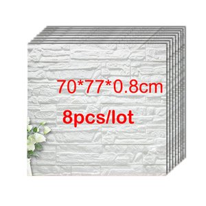 70*77*0.8CM 3D Brick PE Foam Wall Stickers Panels Room Decal Stone Decoration Embossed Living Room Kids Safty Bedroom Home Decor