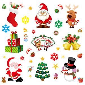نافذة عيد الميلاد ملصقات كهرباء لصق ملصقات الديكور المنزلي قلادة السنة الجديدة عيد الميلاد سانتا كلوز زجاج ملصق النافذة