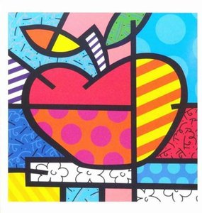 Romero Britto Home Decor Handcrafts  HD Print Oil Painting On Canvas Wall Art Canvas Pictures 7611