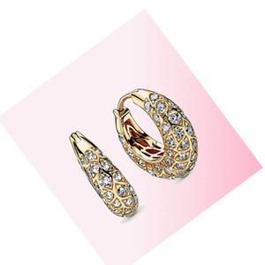 FAHMI 925 Sterling Silver 1:1 2020 Gold Shine Sparkling Hoop Earrings DIY Women Charm Gorgeous Fashion Jewelry Factory Direct Free Shippin