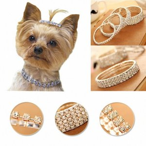 Bonito Mini Pet Dog Bling Rhinestone Chocker colares extravagantes Chihuahua Dog Colar OeQn #