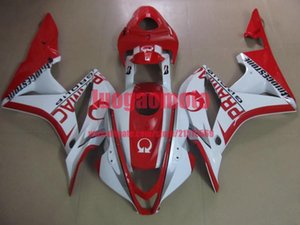 Gift Injection fairings kits for red white Honda CBR600RR F5 fairing set 07 08 CBR 600 RR 2007 2008 motorcycle bodywork cowlings parts