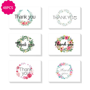 48pcs lot Mix Designs thank you for you best wishes Folding card gift message card DIY decoration Holiday greeting envelope