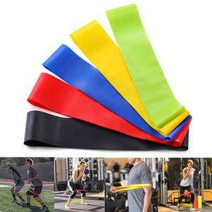 5pcs / set Yoga faixas da resistência de alongamento borracha loop Exercício Fitness Equipment Strength Training Pilates Corpo Strength Training CCA12441