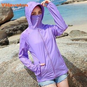 YHavaton 2020 nuovo cappotto delle donne 2020 Estate solare Giacca a vento Plus Size Sun-protettivo Abbigliamento sottile cappotto corto