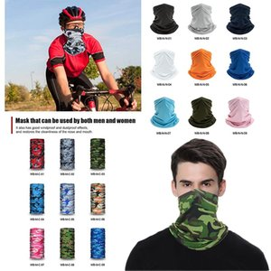 Faceshield protetor solar Ice Silk Scarf bib Face Magic turbante toalha multifuncional equitação máscara EWF954 Collar Outdoor Sports