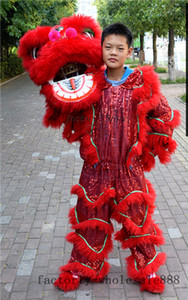 Traditional Pur Lion Dance Mascot Costume pure wool Southern Lion For one person Advertising Carnival Halloween Christmas Easter