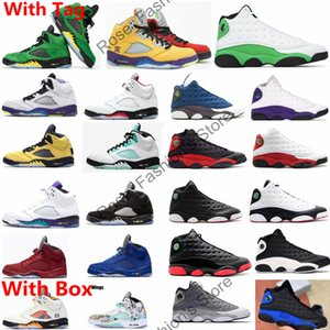 Con la scatola 5 What The Fire Red 5s Oregon anatre Mens Basketball Shoes 13s 13 3M fortunato verde Flint Sport Sneakers libero Shippment