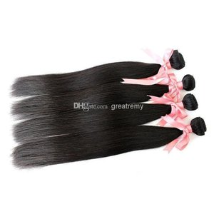A 7a 4pcs Malaysian Hair Extensions Unprocessed Virgin Human Hair Bundles Silky Straight Hair Weft Dyeable Natural Color 8 &Quot ;-30 &