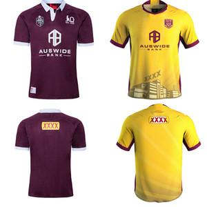 2020 2021 Malou Rugby Ligi Queensland 19 20 21 QLD Maroons Malou Rugby forması Maroons DEVLET KÖKENLİ Rugby gömlek ölçüsü S-5XL