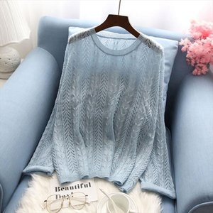 autumn new thin women sweater and pullovers knitted solid flare sleeved loose lady elegant pulls fashion outwear tops