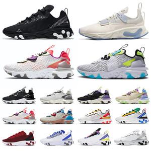 nike react vision epic react element 87 55 Hombres Mujeres Zapatos para correr blanco negro Vela Royal Tint Desert Sand diseñador transpirable deportes zapatillas tamaño 36-45