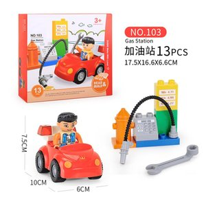 DIY Building Block Colorful Education Brick Intelligence Assemble Model Toy For Children Gift City Bus Station Car Set For Kids 06