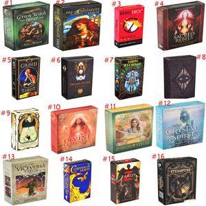 Kart Oyunu Eğlence Çalma 42 Stiller Tarot Kartları Oracle Rehberlik Kehanet Kader Tarot Güverte Masa Oyunları İngiliz İçin Aile Hediye Parti