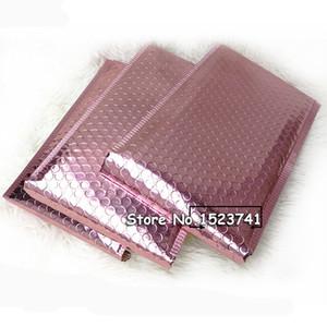 50pcs Rose Gold Bubble Envelop, Metallic Rose Gold Foil Bubble Mailer for Gift Packaging, Wedding Favor Bag Free Shipping