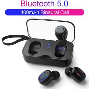 CGJXS1PCS TI8S TWS Auricular Bluetooth Wireless Bluetooth 5 .0 Auriculares Deportes manos libres Auriculares Juegos Auriculares Teléfono 500mAh Cargador Caja con MIC