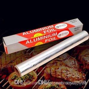 ambalaj kağıdı folyo Alüminyum Folyo rulo wrappping kıymık kağıt 30 Kare Ayak Rulo 0.3 * 10m gıda güvenli sarma