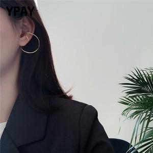 YPAY 100% authentique 925 oreille en argent sterling pour les femmes Cuff Vintage en fer à cheval Boucles d'oreilles clip oreille sans bijoux piercing YME760