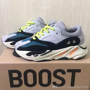 Scarpe di trasporto per bambini corridore dell'onda 700 Kanye West Scarpe da corsa ragazze dei ragazzi della scarpa da tennis 700 Sport scarpa QOG350yezzyyezzys