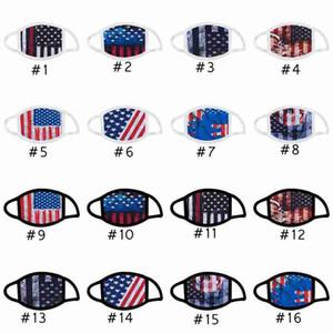 Máscaras Trump cara do crânio Máscaras de impressão contra pó Máscaras lavável reutilizáveis algodão Boca bandeira americana Máscara CYZ2667 500pcs