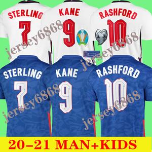 2020 2021kane maillots de football à l'extérieur de la maison 20 21 STERLING SANCHO Rashford DELE inglaterra camisetas de Fútbol hommes chemises enfants de football