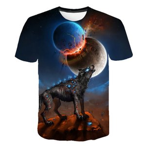 Hot Selling 3D Digital Printed Short Sleeve T-shirt for Summer Mens Designer Tees Creative Tops for Halloween